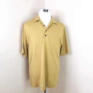 Tommy Bahama Silk textured knit Ss polo shirt M